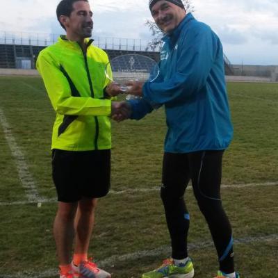 Remise du challenge à Maxime pour sa victoire à la Coupe de la Montagne FSGT 2016