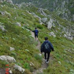 Descente vers Col Sabatier