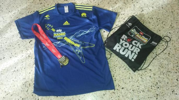 t-shirt  et medaille madrid 2015