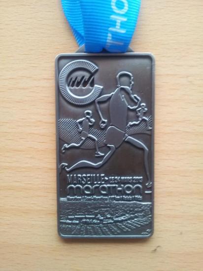 La médaille du Marathon 2013