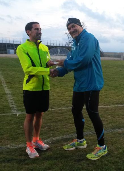 Remise du challenge offert par le club à Maxime suite à sa victoire à la Coupe de la Montagne FSGT  2016