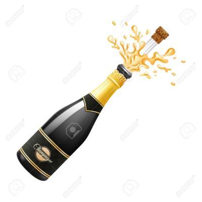 explosion de bouteille de champagne