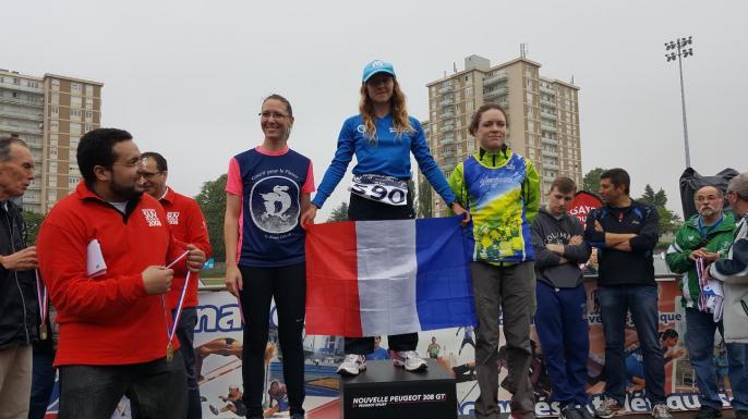Irène Championne de France  FSGT (Sef 2) 10km sur route