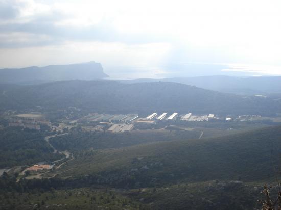 Vue du cap canaille du Mt Carpiagne