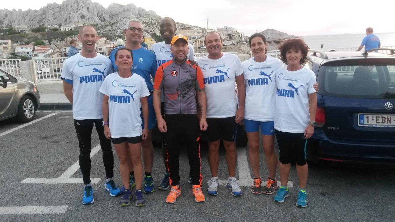 Entrainement pour le lancement Marathon Marseille 2016 avec Benoit Z