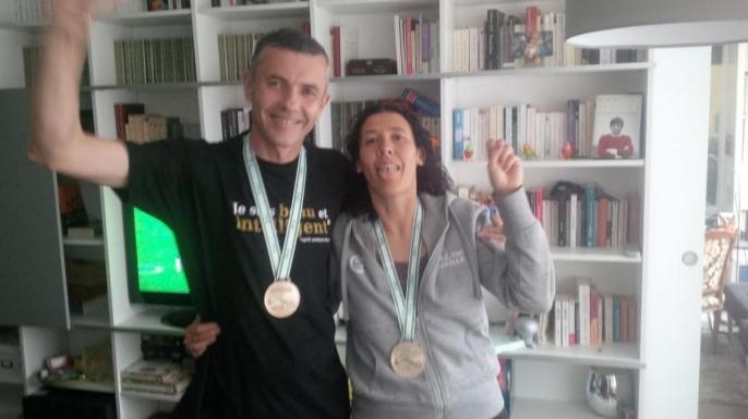 La 1ére médaille de Delphine