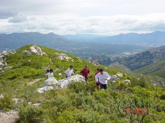 arrivée Mt St Cyr