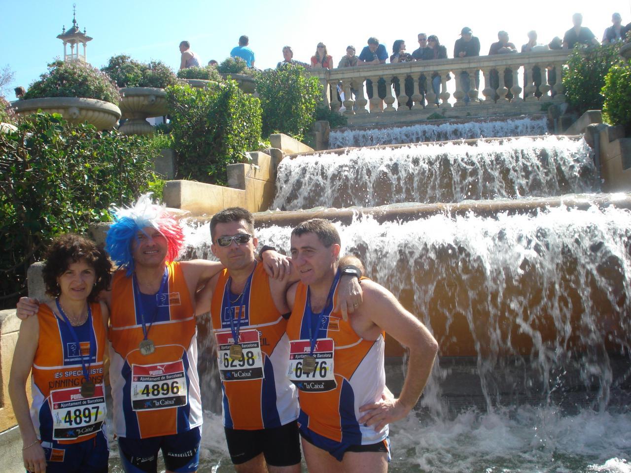 Décontraction aprés Marathon Barcelone