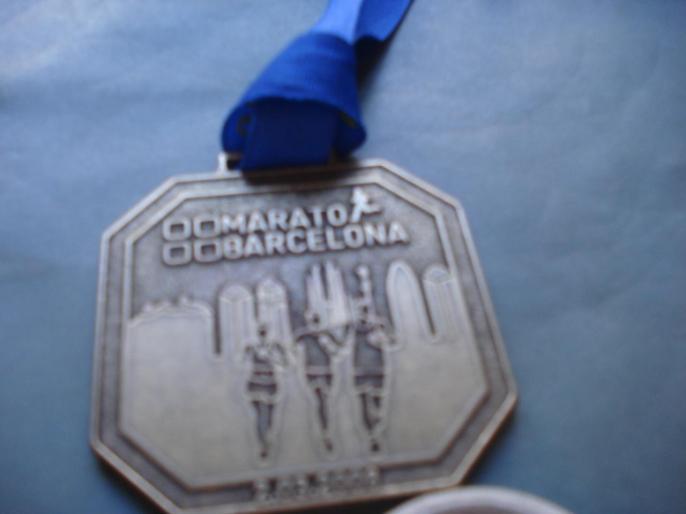 Médaille Marathon Barcelone