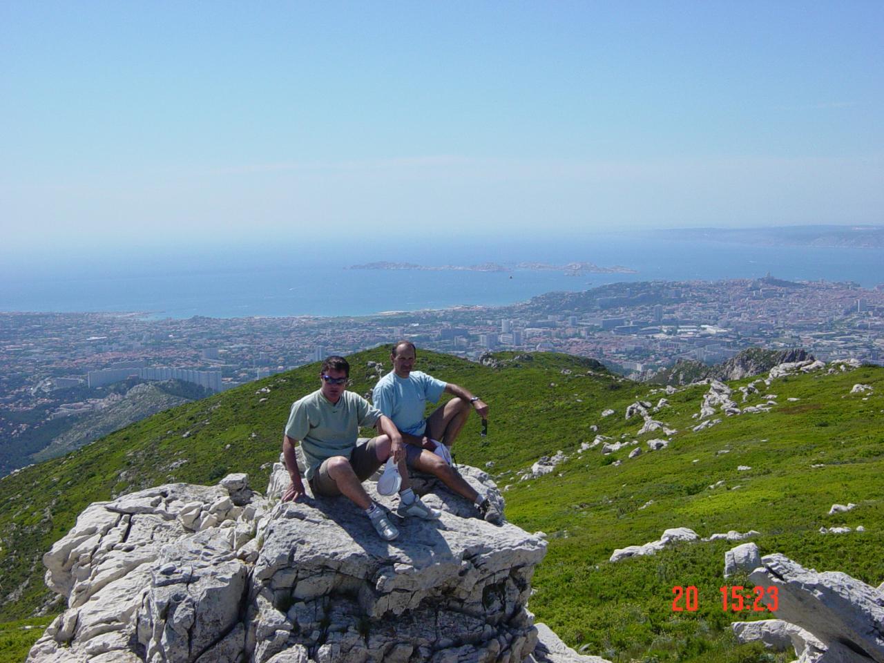 Vue de marseille du Mt Carpiagne