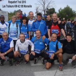Les traileurs KM 42.195 Marseille au Roquefort trail 2010