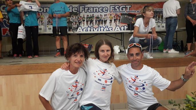 les 3 champions de France FSGT sur 21 km